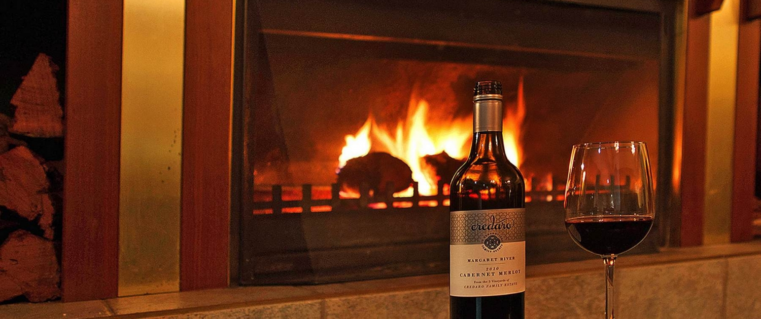 Margaret River Wine and cosy Wood Fire