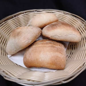 Hot bread rolls